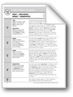 Academic Vocabulary, Grade 4: alter, alteration, adapt, ad