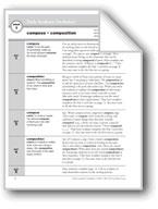 Academic Vocabulary, Grade 4: compose, composition