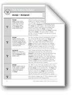 Academic Vocabulary, Grade 4: design, designed