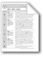 Academic Vocabulary, Grade 4: effect, affect, impact