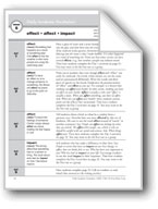 Academic Vocabulary, Grade 4: effect, affect, impact