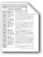 Academic Vocabulary, Grade 4: experience, background