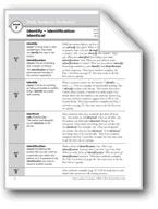 Academic Vocabulary, Grade 4: identify, identification, identical