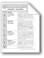 Academic Vocabulary, Grade 4: responsible, responsibility