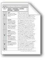 Academic Vocabulary, Grade 4: select, selection, section, passage, segment