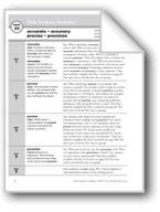 Academic Vocabulary, Grade 5: accurate, accuracy, precise,