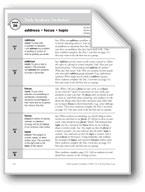 Academic Vocabulary, Grade 5: address, focus, topic