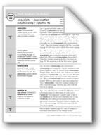 Academic Vocabulary, Grade 5: associate, association, relationship, relative to
