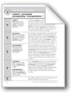 Academic Vocabulary, Grade 5: conform, correspond, corresp
