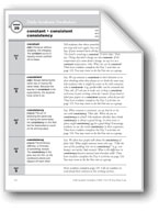 Academic Vocabulary, Grade 5: constant, consistent, consistency