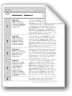 Academic Vocabulary, Grade 5: determine, influence