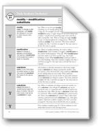 Academic Vocabulary, Grade 5: modify, modification, substitute