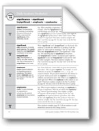Academic Vocabulary, Grade 5: significance, significant, i