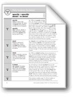 Academic Vocabulary, Grade 5: specify, specific, detail, i