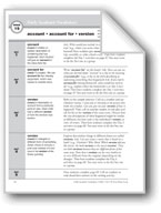 Academic Vocabulary, Grade 6+: account, account for, version