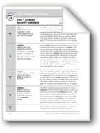 Academic Vocabulary, Grade 6+: cite, citation, assert, validate