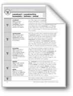 Academic Vocabulary, Grade 6+: construct, constructive, formulate, initiate, initial