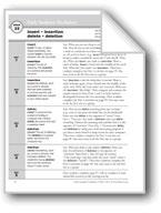 Academic Vocabulary, Grade 6+: insert, insertion, delete, deletion