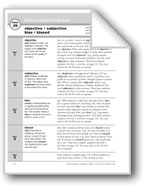 Academic Vocabulary, Grade 6+: objective, subjective, bias, biased