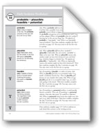 Academic Vocabulary, Grade 6+: probable, plausible, feasible, potential