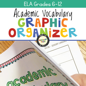 Academic Vocabulary Graphic Organizers ELA 6-12