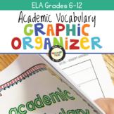 Academic Vocabulary Graphic Organizers ELA 6-12