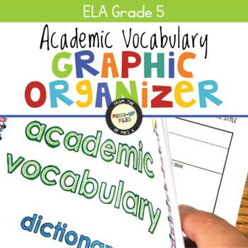 Academic Vocabulary Graphic Organizer ELA Fifth Grade