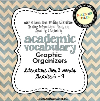 Academic Vocabulary Graphic Organizer Literature