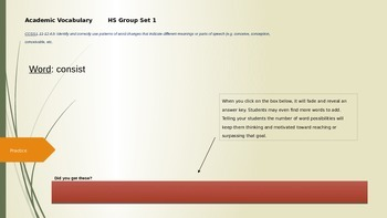 Academic vocabulary: module 2 ppt download.