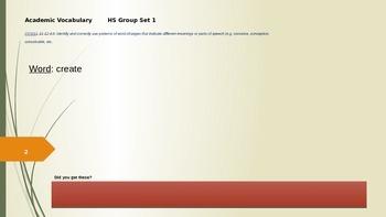 Reach level c, unit 3 academic vocabulary power point & book | tpt.