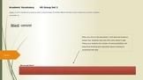 Academic Vocabulary HS Set 1 ppt (5 min at start of class)