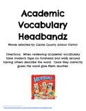 Academic Vocabulary Headbandz