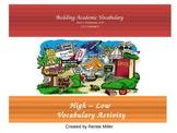Academic Vocabulary High Low Activity