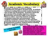 Academic Vocabulary Increases Achievement