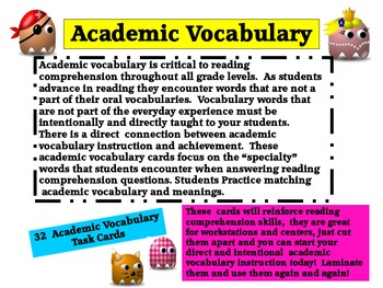Academic Vocabulary Increases Achievement