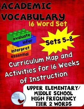Word of the Week Academic Vocabulary Program Activities Se