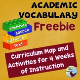 Vocabulary Academic Vocabulary Program Free Complete 4 Word Set