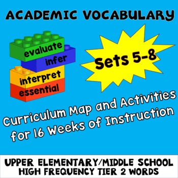 Academic Vocabulary Worksheets Assessments Activities Sets 1-4 Great for ESL