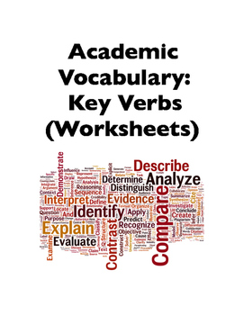 Academic Vocabulary: Key Verbs (Worksheets)