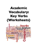 Academic Vocabulary: Key Verbs (Worksheets)