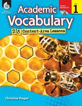 Academic Vocabulary Level 1--25 Content-Area Lessons (eBook)