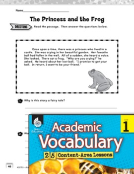Academic Vocabulary Level 1--Elements of a Fairy Tale (eLesson)