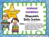 Academic Vocabulary (Marzano) Data Tracker no-Prep Pack 3rd Grade