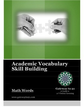Academic Vocabulary Math Words (Common Core Aligned)