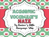 Academic Vocabulary Maze