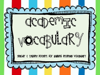 Academic Vocabulary Posters