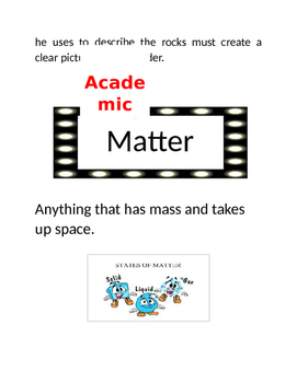Academic Vocabulary Posters/Anchor Charts