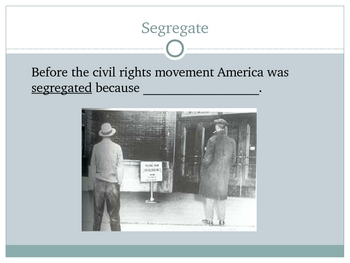 Academic Vocabulary Power Point: The Civil Rights Movement