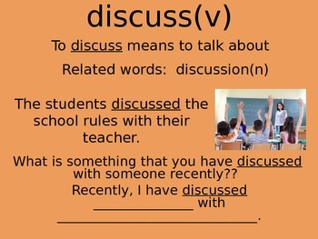 Academic Vocabulary Powerpoint