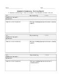 Academic Vocabulary-Running Record Flashcards
